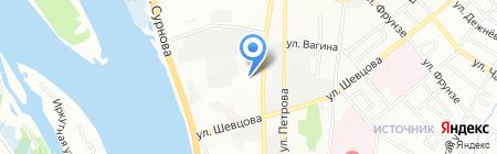 Восток на карте Иркутска
