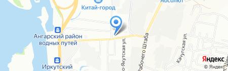 АЗС Омни на карте Иркутска