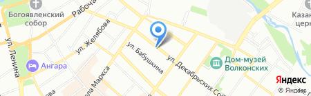 Городские цветы на карте Иркутска