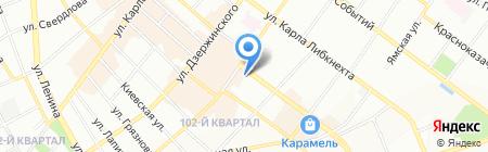 На Большой Блиновской на карте Иркутска