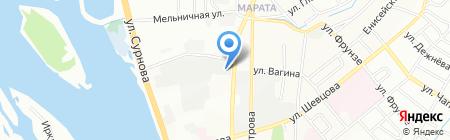 Окна России на карте Иркутска