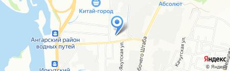 Текстильный подарок на карте Иркутска