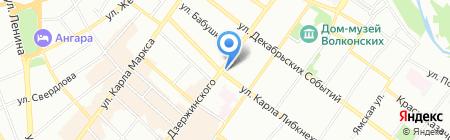Примо Аморе на карте Иркутска