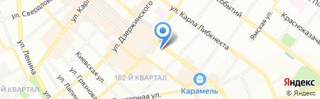 Купчиха на карте Иркутска
