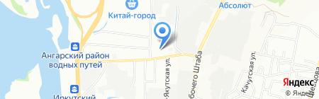 Альфа-текстиль на карте Иркутска