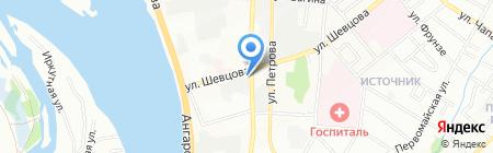 Русский крендель на карте Иркутска