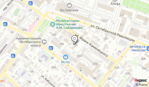 Эстет. Схема проезда в Иркутске