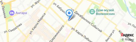 Трансюжстрой на карте Иркутска