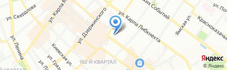Дали на карте Иркутска