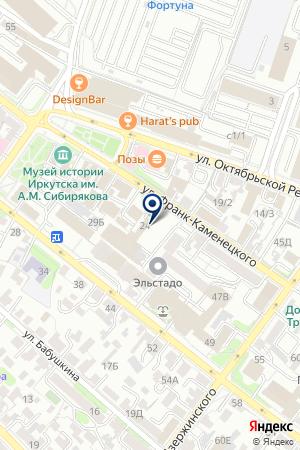 АЗС ИРКУТСКНЕФТЕСЕРВИСТРЕЙД на карте Иркутска