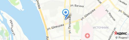 Амиго на карте Иркутска