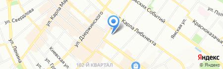 Рифей на карте Иркутска