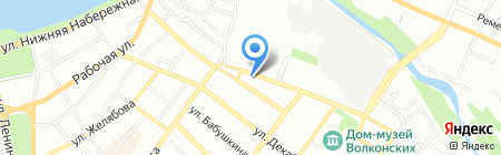 Багульник на карте Иркутска