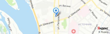 Цейс на карте Иркутска
