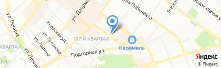 Лотос на карте Иркутска