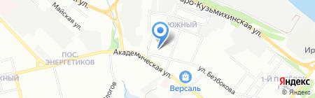 Наташа на карте Иркутска