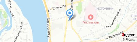 Автодом на карте Иркутска