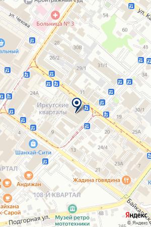 ШВЕЙНЫЙ МИР, МАГАЗИН на карте Иркутска