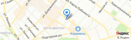 Крем на карте Иркутска