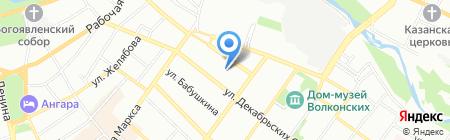 Санаторий рядом с домом на карте Иркутска