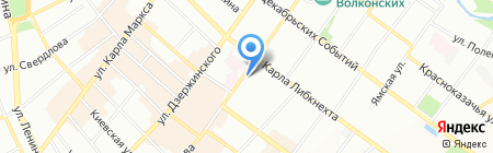 Спас на карте Иркутска