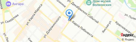 Фонд социального страхования РФ на карте Иркутска
