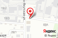 Схема проезда до компании Слово в Иркутске