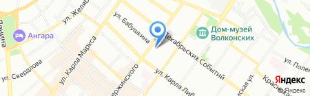 Сканна на карте Иркутска