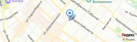 Завод камня на карте Иркутска