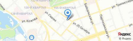 Центральный Парк на карте Иркутска