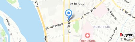 Аврора-игрушка на карте Иркутска
