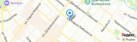 Амелия на карте Иркутска