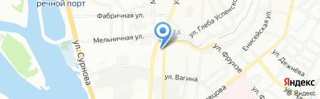 Брк на карте Иркутска