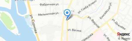 Роза на карте Иркутска