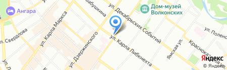 Матрешка-тур на карте Иркутска