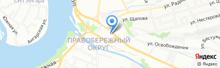 Павловский на карте Иркутска