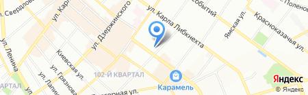 Ангария на карте Иркутска