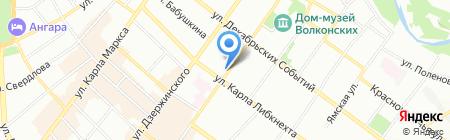 Старый город на карте Иркутска