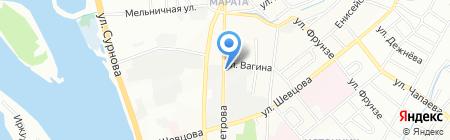 Мастеровой на карте Иркутска