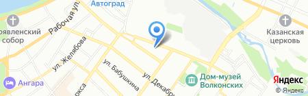 Дарфей на карте Иркутска