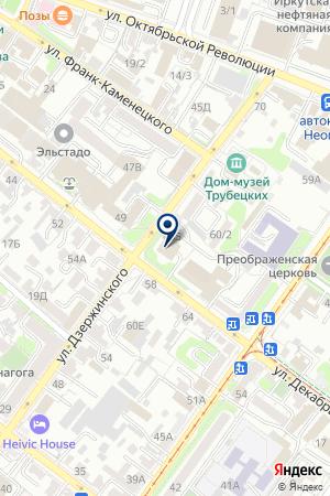 СУЭК на карте Иркутска