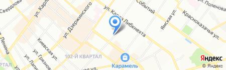 Лючия-текс на карте Иркутска