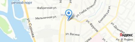 Фабрика текстиля на карте Иркутска