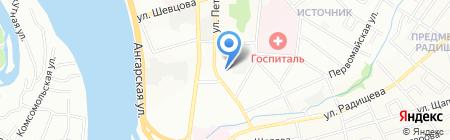 Торгсервис Иркутск на карте Иркутска
