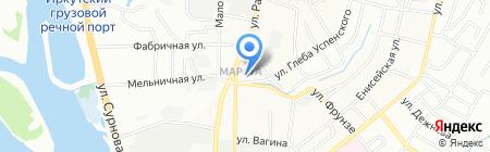 Град на карте Иркутска