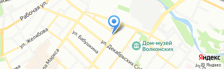 Узорочье на карте Иркутска