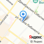 Глаголь на карте Иркутска