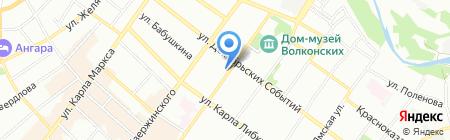 Движение на карте Иркутска