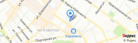 ОК-Тревел на карте Иркутска