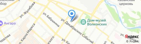 Саквояж на карте Иркутска